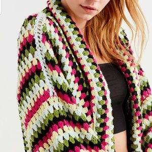 Urban outfitters crocheted cardigan